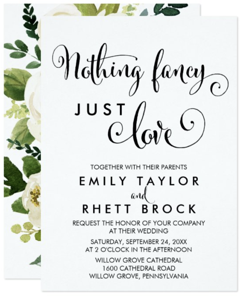 southern wedding invitation