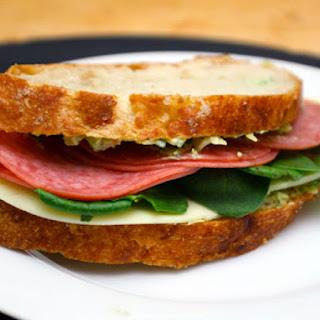 Artichoke and Salami Sandwiches.
