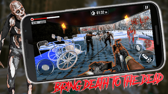 Into The Zombie Dead Land: Zombie Shooting Games 1.0.8 Mod + Data for Android 1