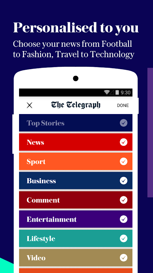 The Telegraph - news- screenshot