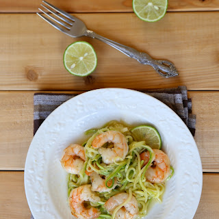 Skinny Shrimp Scampi with Zucchini Noodles.