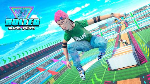 Sky Roller Skate Stunts Racing u2013 Impossible Tracks android2mod screenshots 5