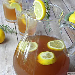 Sugar-Free Lemon Thyme Iced Tea