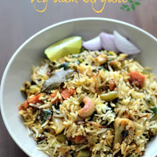 Hyderabadi Vegetable Dum Biryani.