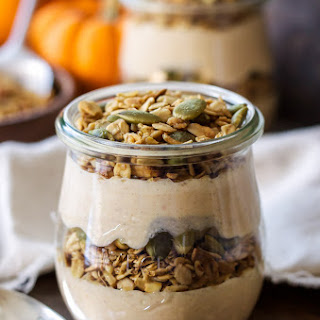 Pumpkin Pie Yogurt and Granola Parfaits.