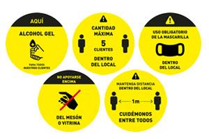 Pack Adhesivos prevención  por 20 unidades
