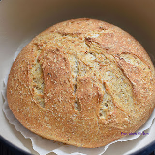 Dutch Oven Oatmeal Bread.