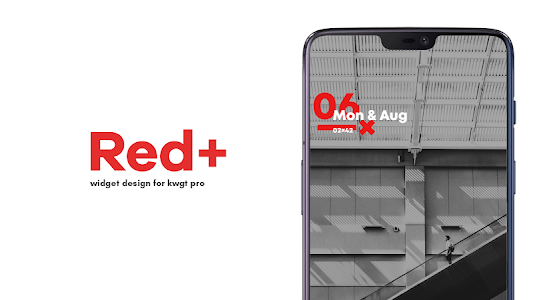 Red+ : Widget for kwgt 5.3 (Paid)