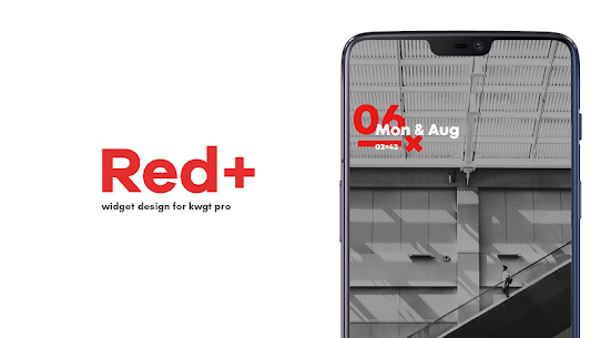 Red+ : Widget for kwgt v4.1 [Paid] APK 1