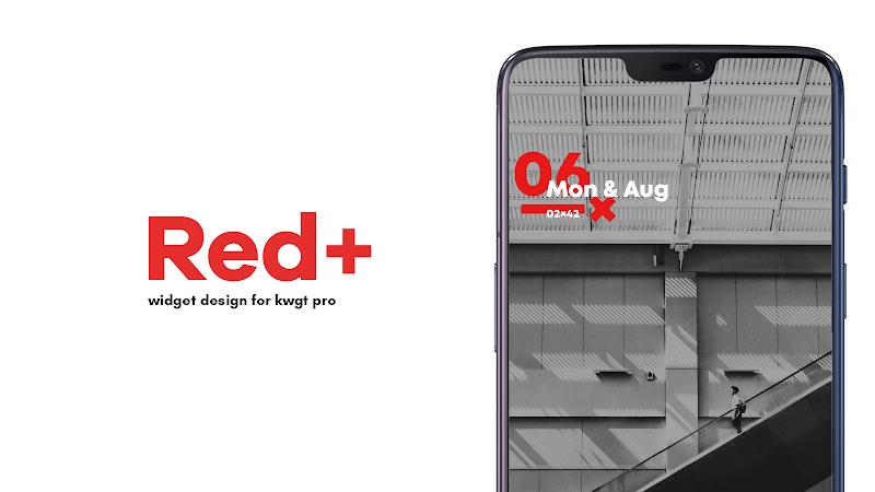 Red+ : Widget for kwgt Screenshot 0