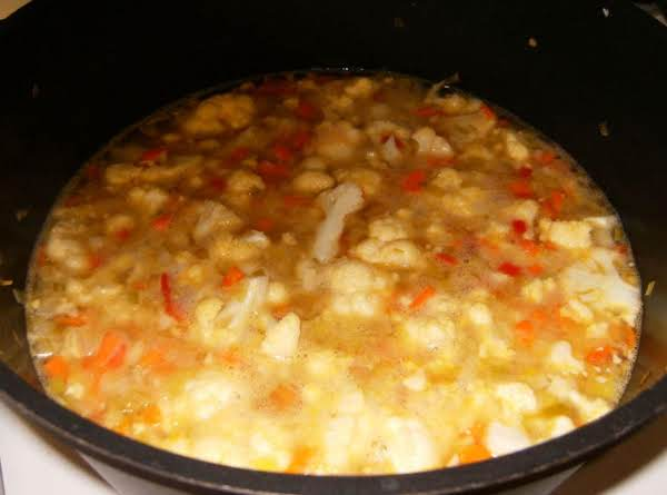 Soup As It Appears Before Being Pureed.