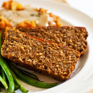 Lentil Oat Meatloaf [Vegan].