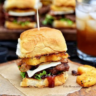 Hawaiian Burger Recipe - Aloha BBQ Sliders Recipe