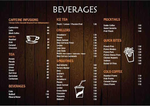 D View Cafe menu 1