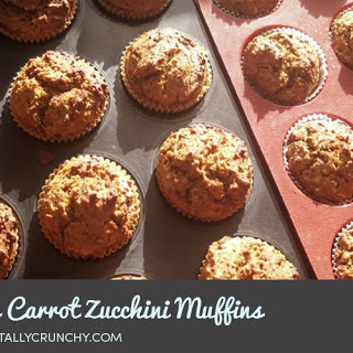 Healthy Vegan Carrot Zucchini Protein Muffins.