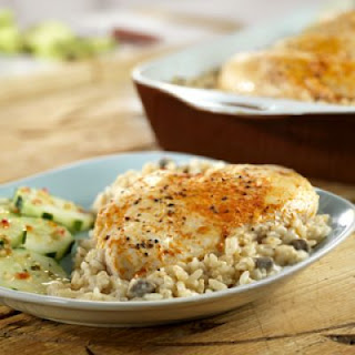 One Dish Chicken & Rice Bake