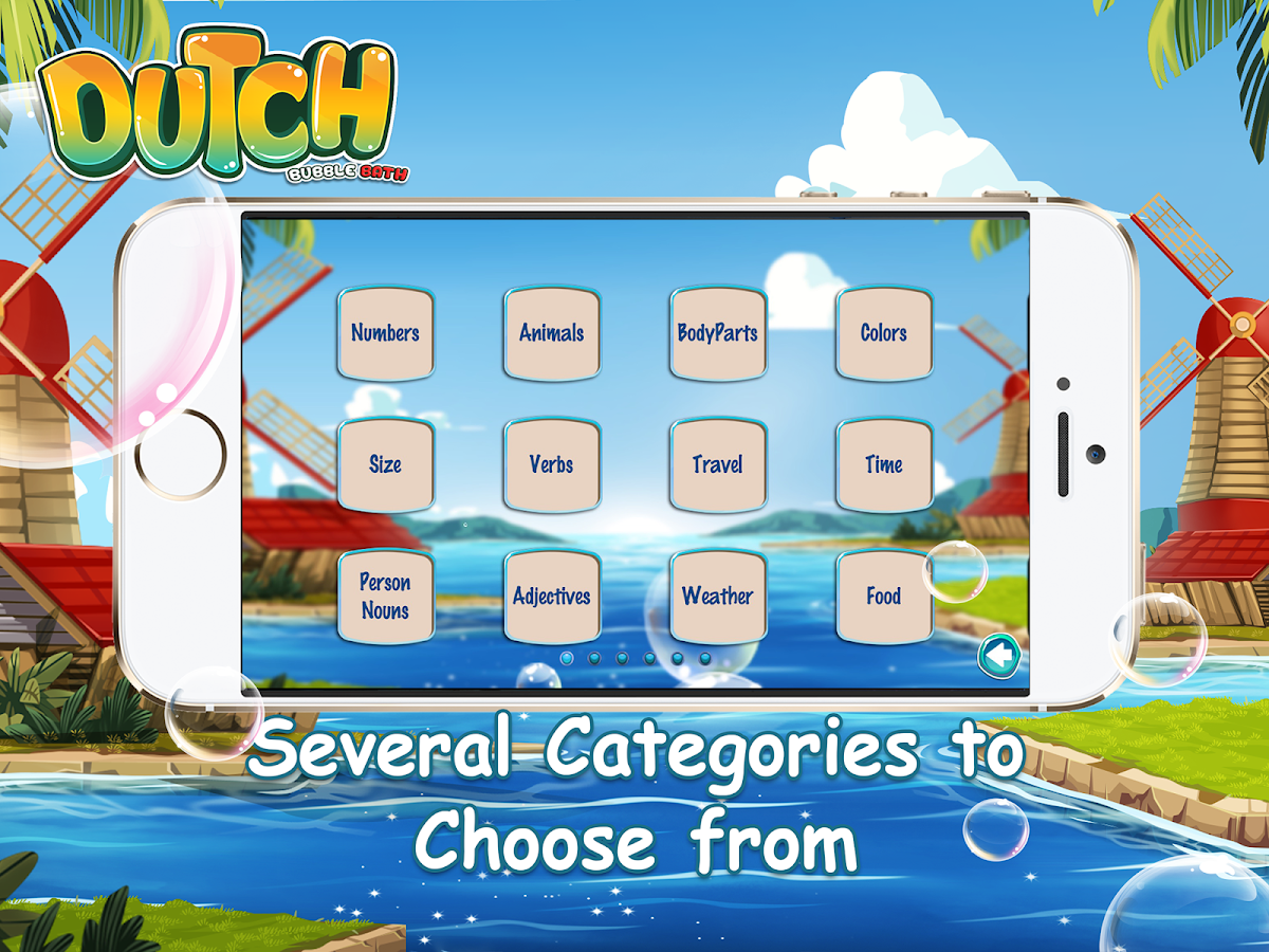 Learn Dutch Bubble Bath Game- screenshot