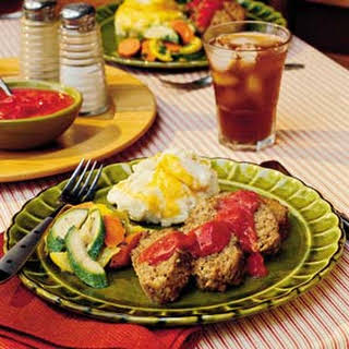 Meatloaf With Green Chile-Tomato Gravy.