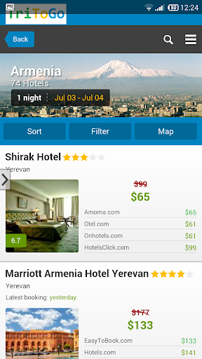 Hotels Armenia by tritogo