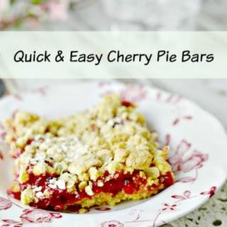 Quick & Easy Cherry Pie Bars