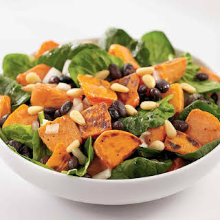 Roasted Sweet Potato and Spinach Salad.