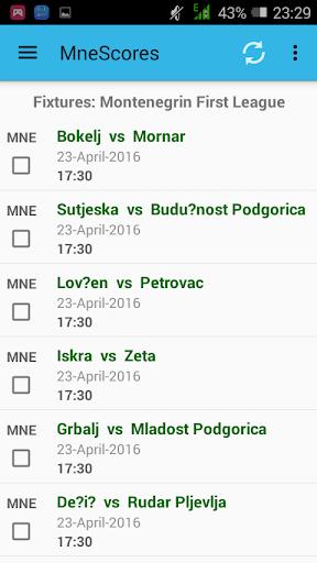 Montenegrin Livescores App
