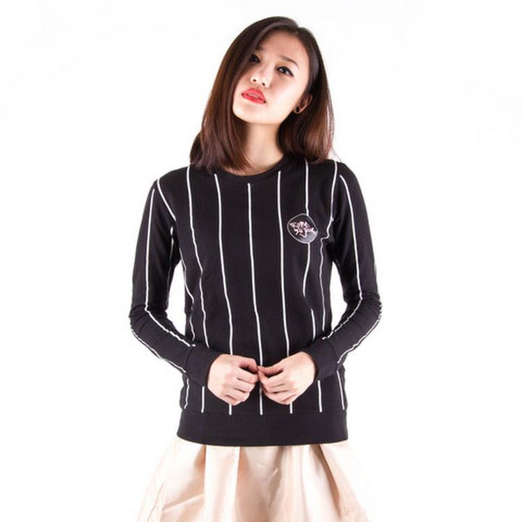 Baseball Sweater Black by Meridian Street Sdn Bhd