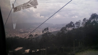 Photo: Day 1: This is the view out of the cable lift on the way up to Cruz Loma.
