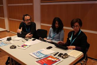 Photo: Our Italian colleagues (left to right): Mario Riviello, Giannarita Martino, Ippolita Papale