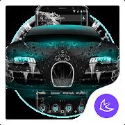 Blue Supercar APUS Launcher theme APK