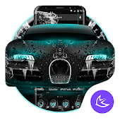 Blue Supercar APUS Launcher Theme Android APK Download Free By Cool Theme Team