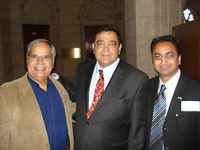 Photo: CIEC Vice-ChairKam Rathee (L) and CEOHusain Neemuchwala (R) withDeepak Obhrai  http://canadaindiaeducation.com/introduction/media-outreach