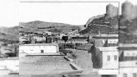 La vieja rambla de los Maroneros, hoy Avenida del Mar, en el siglo XIX. Al fondo se ven las murallas y las primeras casas del barrio de Chamberí.