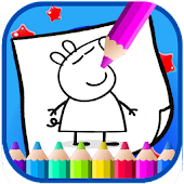 Art peppa Coloring Page Pig Cartoon