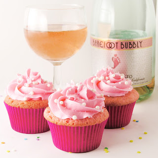 Pink Champagne and Raspberry Cupcakes!
