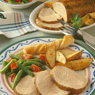 Italian Pork Roast with Roasted Potato Wedges Recipe