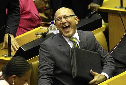 Laughing all the way to the bank: a court awarded Trevor Manuel R500,000 for defamation, and punitive costs against the EFF, its leader Julius Malema and its spokesperson Mbuyiseni Ndlozi.
