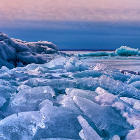 Arctic Slabs by Glen Sande - Landscapes Weather ( mn, duluth, winter, brighton beach, ice, slabs, lake superior,  )