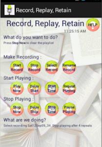 Record, Replay, Retain screenshot 2