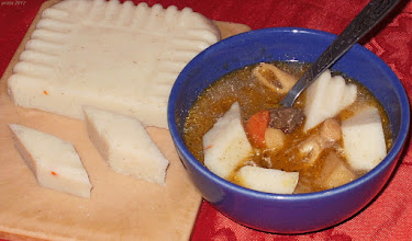 Photo: Zupa grzybowa z kostkami z kaszy manny 40