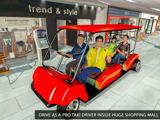 Shopping Mall Radio Taxi: Car Driving Taxi Games apkslow screenshots 19