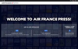 Screenshot of Air France Press
