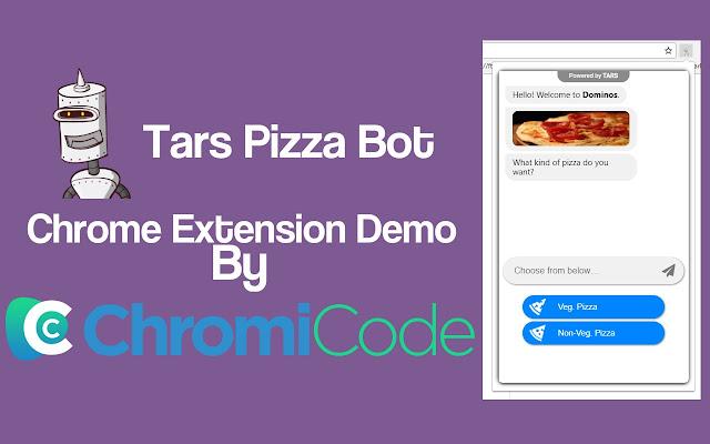 Tars Pizza Ordering Bot inside ChromiCode