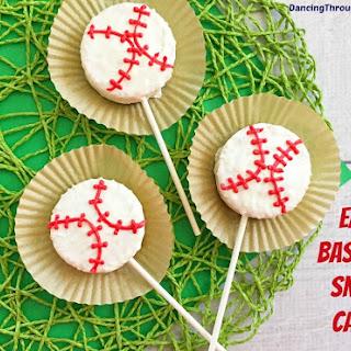 Baseball Snack Cakes On A Stick.