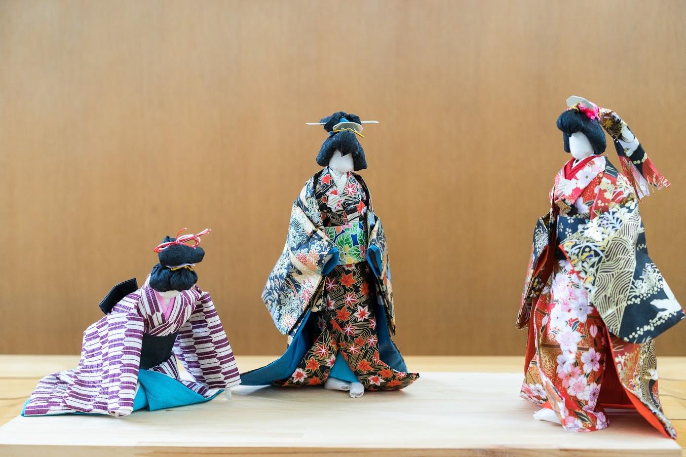 川本富美子さんの3月の和紙人形は「大奥」
