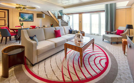 QM2-Q2-Duplex-lounge.jpg - The living area of the elegant two-level Duplex suite on Queen Mary 2.