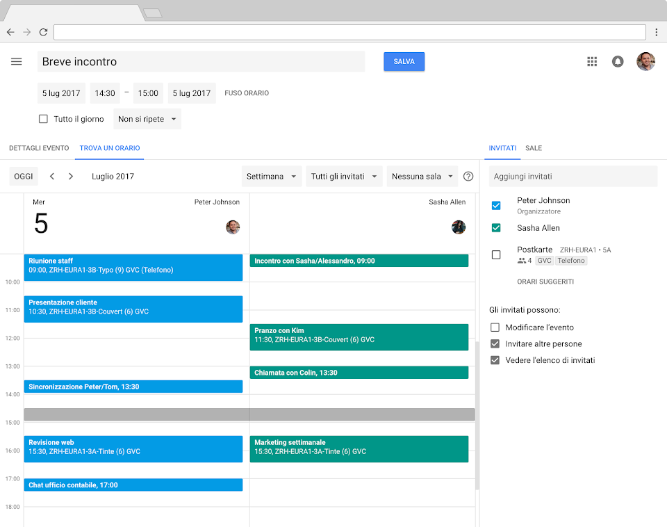 Condividere Calendario Outlook Senza Exchange.Google Calendar Calendari Aziendali Online G Suite