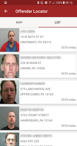 Screenshot for Offender Locator in United States Play Store