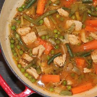 Low Fat Summer Turkey Stew.