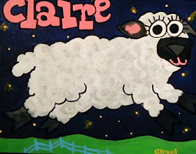 Photo: Claire's Sheep 12 x 10